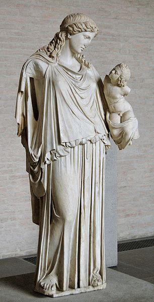 Eirene Greek goddess of peace and Ploutos, god of wealth and prosperity