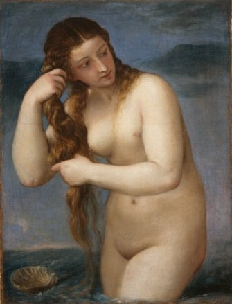 Venus Anadyomene by Titian (Birth of Venus)