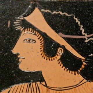 head of Thetis, Attic pelike